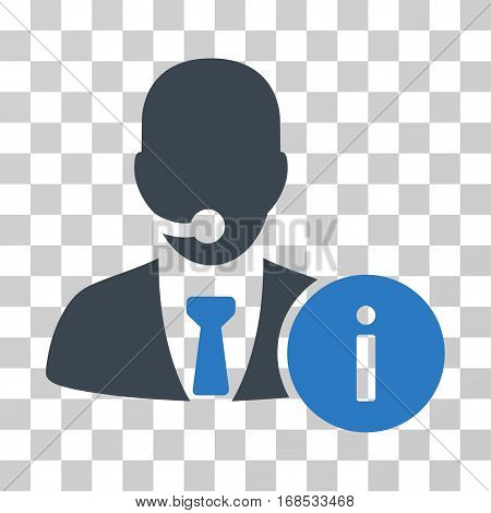 Help Desk icon. Vector illustration style is flat iconic bicolor symbol, smooth blue colors, transparent background. Designed for web and software interfaces.