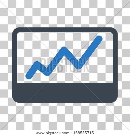 Stock Market icon. Vector illustration style is flat iconic bicolor symbol, smooth blue colors, transparent background. Designed for web and software interfaces.