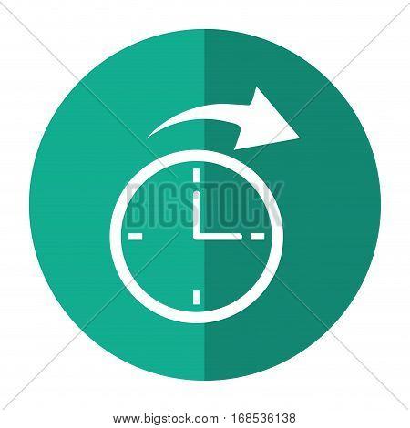 clock time arrow around shadow vector illustration eps 10