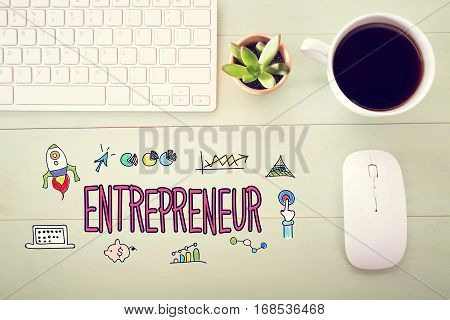 Entrepreneur Concept With Workstation