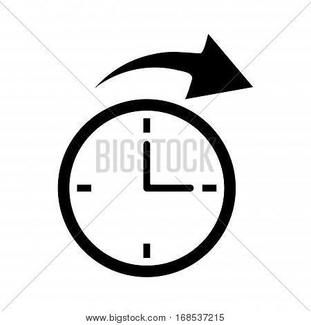 clock time arrow around pictogram vector illustration eps 10