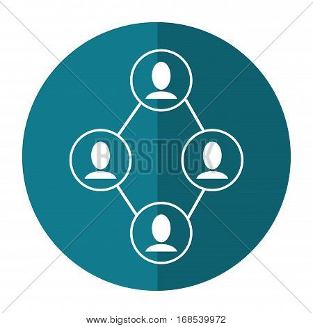 group people connected unity communication shadow vector illustration eps 10