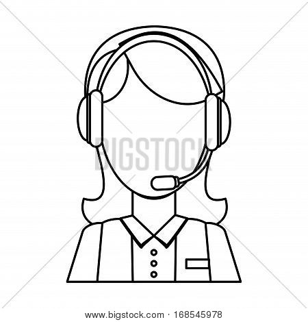 technical assistant icon image design, vector illustration