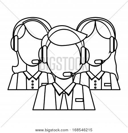 Support assistants technical icon image, vector illustration