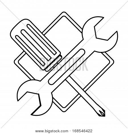 technical workshop stock emblem icon, vector illustration image