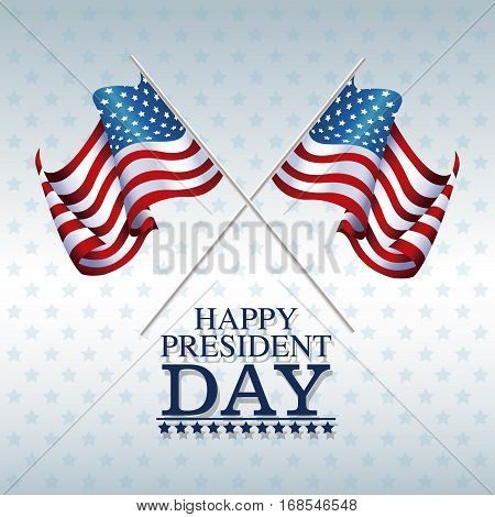 flags american happy president day vector illustration eps 10