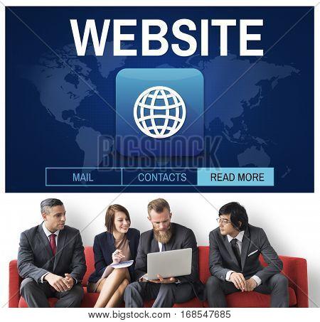 Website Global Worldwide Icon Concept
