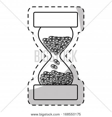 stop watch and hourglass icon design, vector illustration