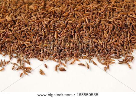 pile of caraway seeds - detail