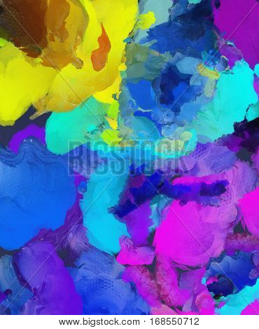 Colorful abstract painting.