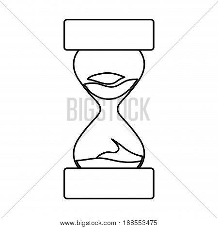 sandclock hourglass icon image vector illustration design