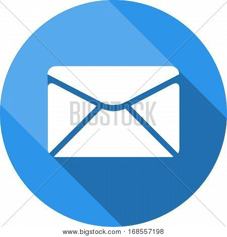 Envelope icon. Send email message sign. Internet mailing symbol. Circle button with web icon. Star and square design. Vector