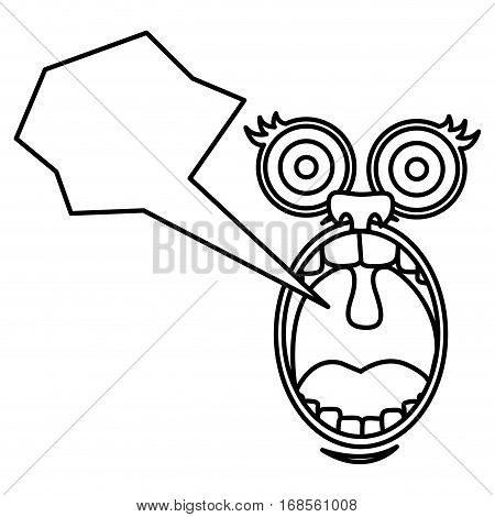 silhouette face cartoon gesture with dialog abstract box vector illustration