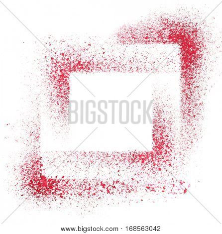 Squares. Red stenciled abstract background - space for your own text -- raster illustration