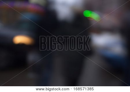 Abstract Background With Bokeh Defocused Lights And Shadow A