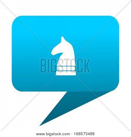 chess horse blue bubble icon