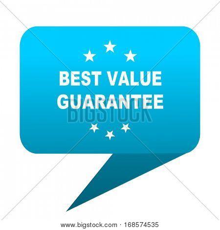 best value guarantee blue bubble icon