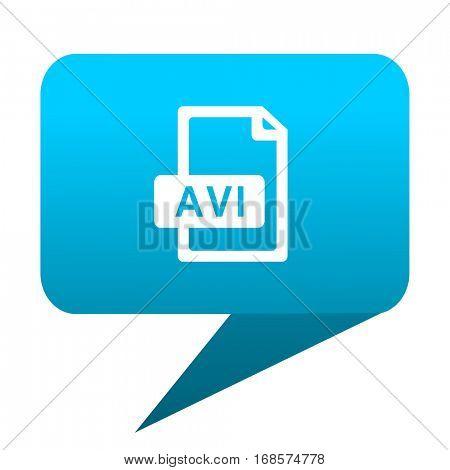 avi file blue bubble icon