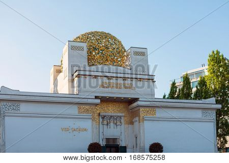 VIENNA, AUSTRIA-April 19, 2016 : Vienna Secession Building was formed in 1897 by a group of Austrian artists. Vienna Secession on April 19, 2016.Vienna, Austria