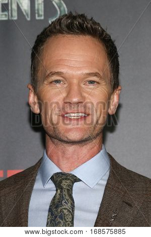 NEW YORK-JAN 11: Neil Patrick Harris attends the world premiere of NETFLIX's Lemony Snicket's