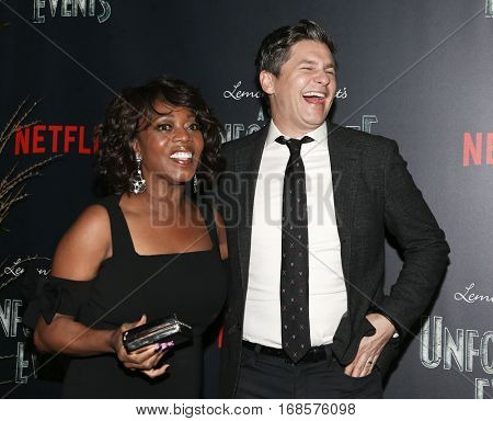 NEW YORK-JAN 11: Alfre Woodard and David Burtka attend the premiere of NETFLIX's Lemony Snicket's