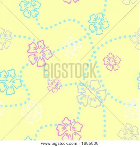 Hibiscus-Tile-Yellow.Eps