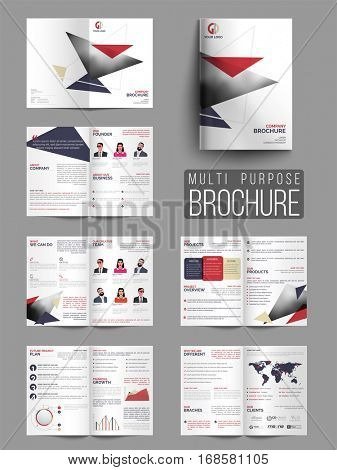 Creative Professional Twelve Pages Multi-Purpose Brochure Set.
