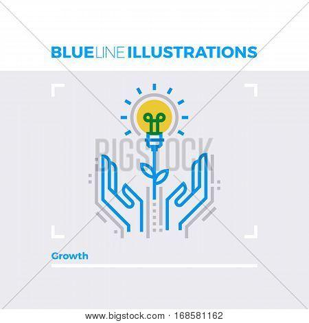 Growth Blue Line Illustration.