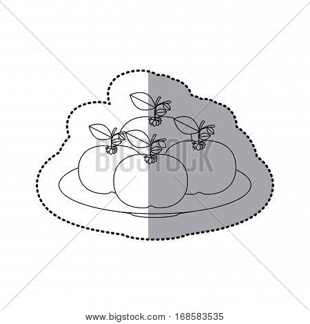 Delicious mandarins fruits icon vector illustration graphic design