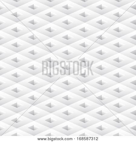 Seamless geometric white rhombus pattern. Vector illustration