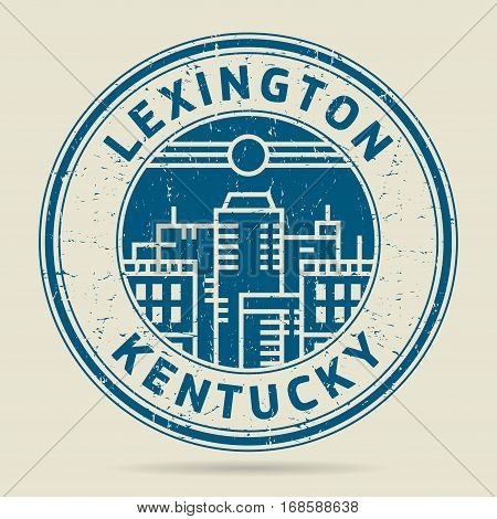 Grunge rubber stamp or label with text Lexington Kentucky written inside vector illustration