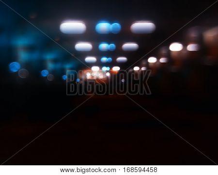 Night lamps car parking bokeh background hd