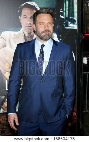 Ben Affleck at the Los Angeles premiere of 'Live By Night' held at the TCL Chinese Theatre in Hollywood, USA on January 9, 2017.