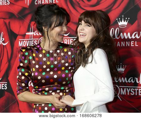 LOS ANGELES - JAN 14:  Catherine Bell, Bailee Madison at the Hallmark TCA Winter 2017 Party at Rose Parade Tournament House  on January 14, 2017 in Pasadena, CA
