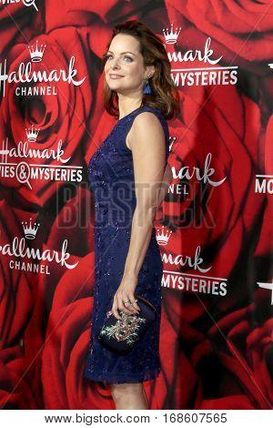 LOS ANGELES - JAN 14:  Kimberly Williams-Paisley at the Hallmark TCA Winter 2017 Party at Rose Parade Tournament House  on January 14, 2017 in Pasadena, CA