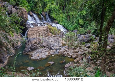 Pha Sue Waterfall in Mae Hong Son province, Thailand