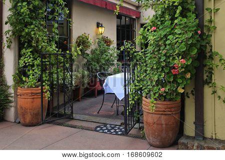 A small cafe in Carmel. California USA