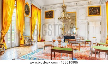 Versailles, France - July 02, 2016 : Salon (apartment) Empress Family In Grand Trianon. Chateau De V