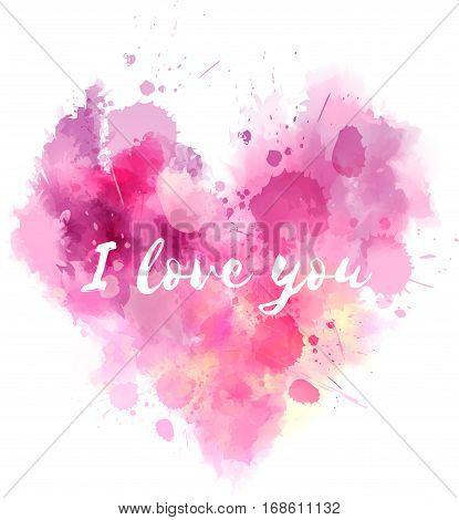 Watercolor Imitation Heart