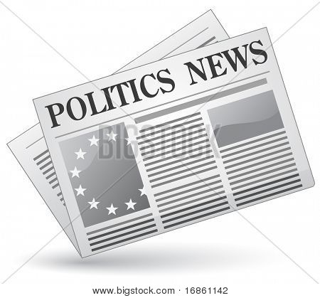 Politics news. Vector illustration.