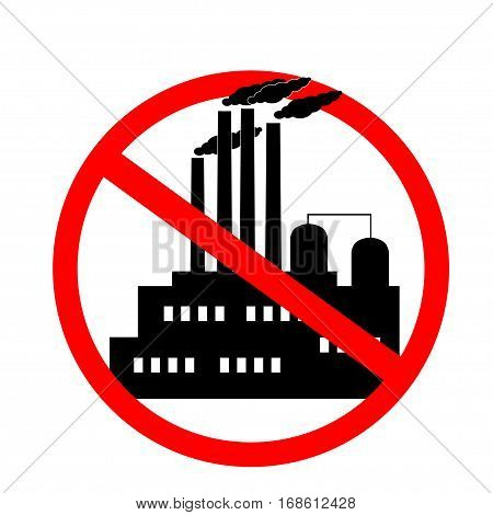 icon against the pollution of the environment. for pure nature, against industry globalization