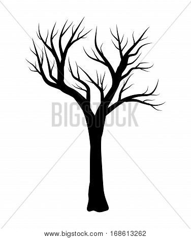 Bare Tree Vector Symbol Icon Design.