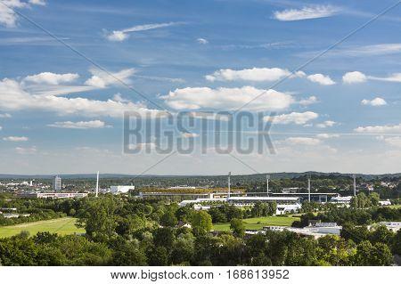Aachen Tivoli And Hauptstadion Stadium View