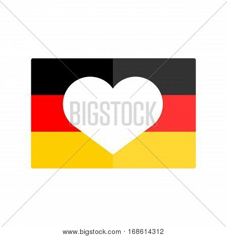 German flag national banner country vector illustration. Patriot freedom politics european travel emblem. Original berlin waving color republic symbolic.