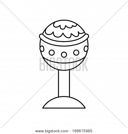 Golden chalice isolated icon vector illustration graphic design
