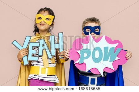 Little Kids Superhero Yeah Pow Paper crafts