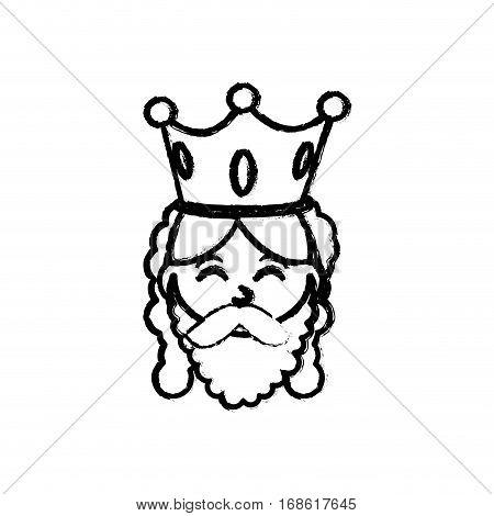 Three wise man cartoon icon vector illustration graphic design