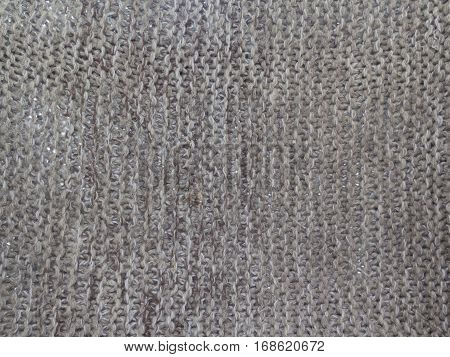 Background Texture Of Knitted Canvas Gray Wool