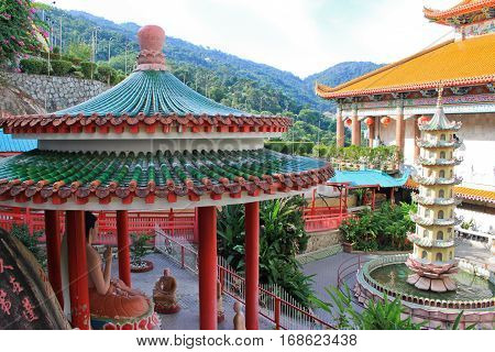 Kek Lok Si temple in Georgetown on Pulau Penang in Malaysia