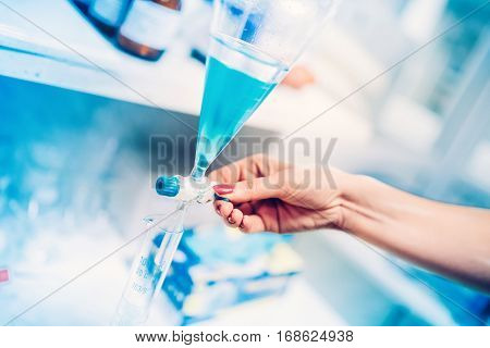 Chemical Engineer And Professional Researcher Using Medical Tools And Conducting Experiments